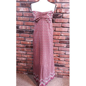 Attention Strapless Printed A-line Maxi Dress